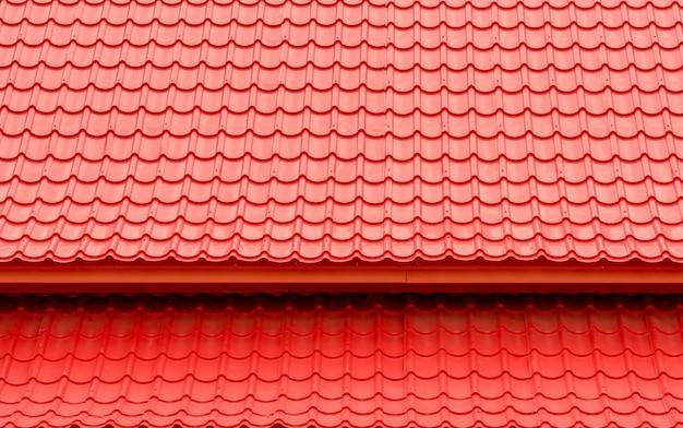 Fundo de telhado vermelho e textura