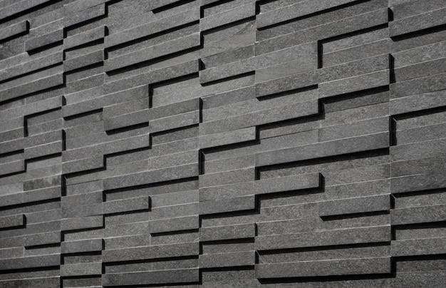 Fundo de telhas retângulo preto e branco moderno