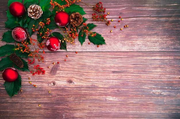 Fundo de temporada de natal e feliz ano novo