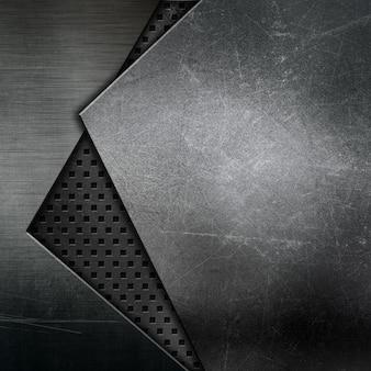 Fundo de textura abstrata com desenhos metálicos