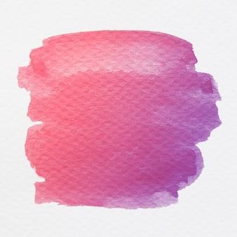 Fundo de textura abstrata pincelada aquarela rosa e roxo