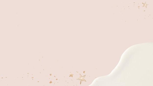 Fundo de textura acrílica rosa com estrelas douradas