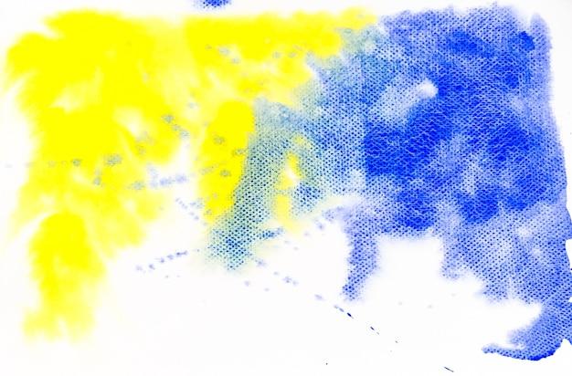 Fundo de textura aquarela amarelo e azul.