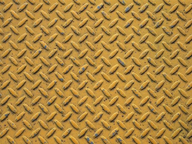 Fundo de textura de aço amarelo