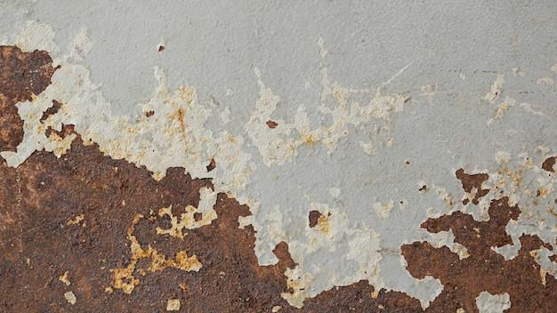 Fundo de textura de aço enferrujado e arranhado