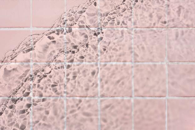 Fundo de textura de água, azulejos rosa