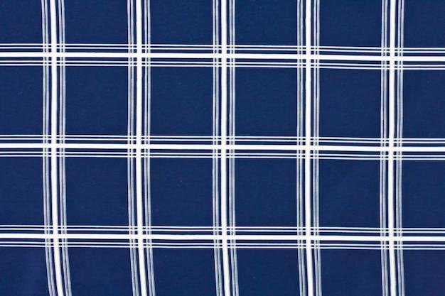 Fundo de textura de algodão azul e branco