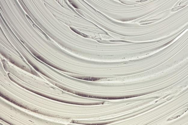 Fundo de textura de amostra cosmética transparente cinza gel creme