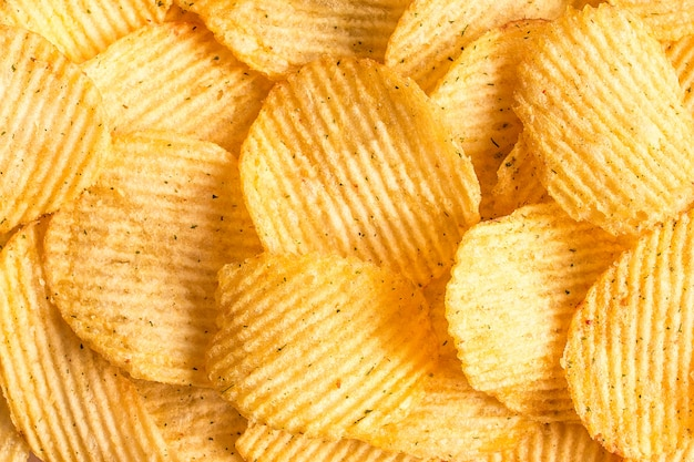 Fundo de textura de batatas fritas. padrão de batatas