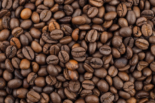 Fundo de textura de café torrado de grãos de café