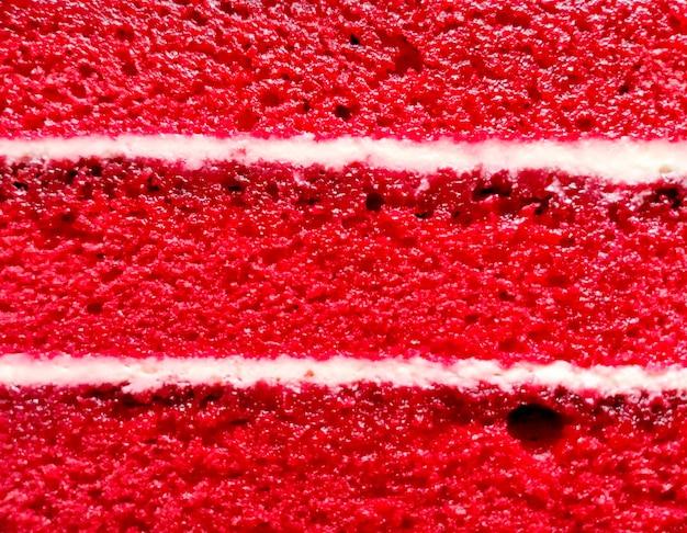 Fundo de textura de camada de bolo de veludo vermelho