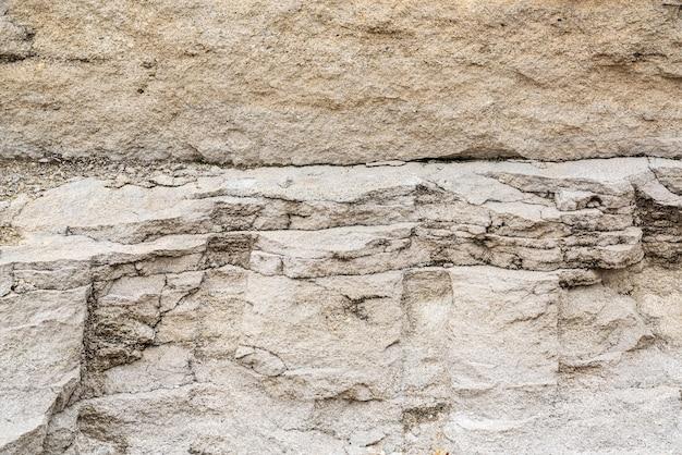 Fundo de textura de camadas de rocha sedimentar