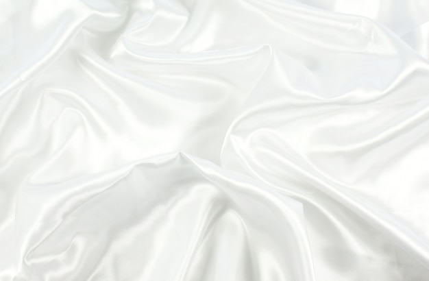 Fundo de textura de cetim branco