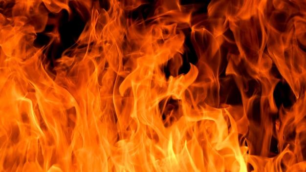 Fundo de textura de chama de fogo flamejante
