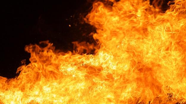Fundo de textura de chama de fogo