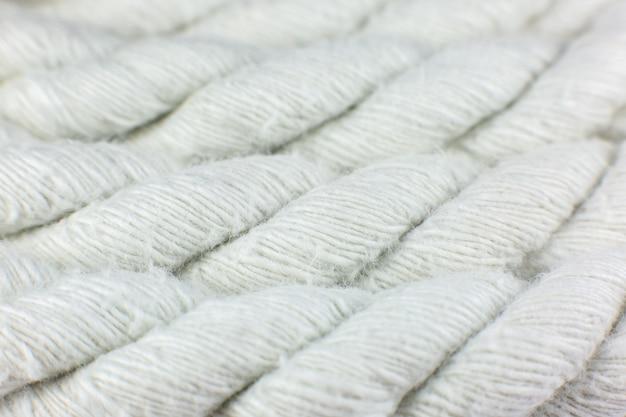 Fundo de textura de corda de algodão branco