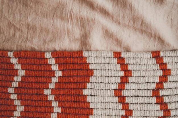 Fundo de textura de cordas de algodão em tons pastel