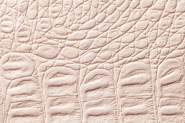 Fundo de textura de couro bege, closeup