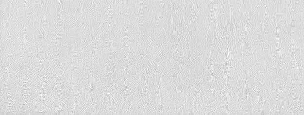 Fundo de textura de couro branco. material natural