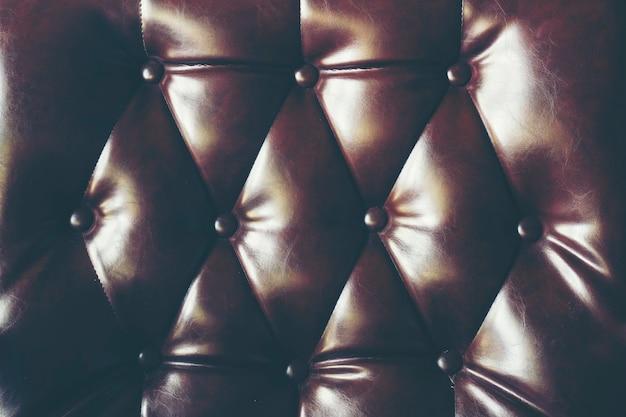 Fundo de textura de couro escuro com padrão abotoado