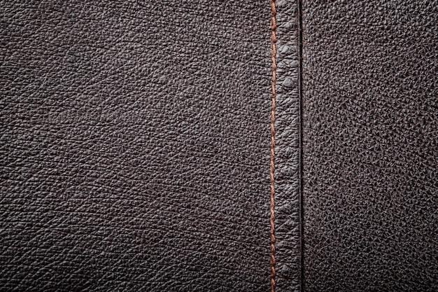 Fundo de textura de couro genuíno marrom