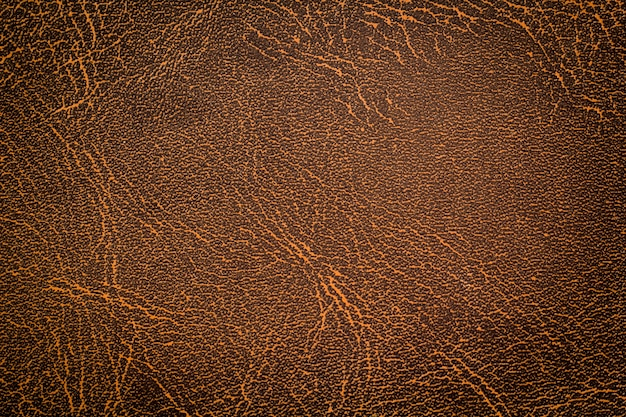 Fundo de textura de couro marrom natural