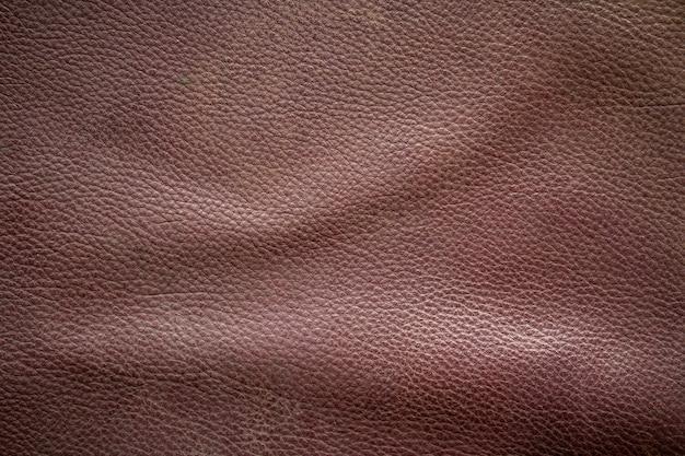 Fundo de textura de couro marrom velho e sujo