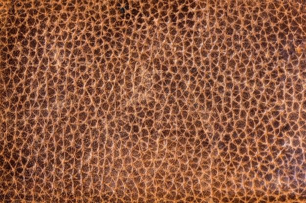 Fundo de textura de couro marrom.