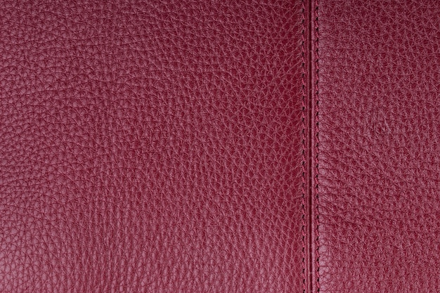 Fundo de textura de couro natural vermelho