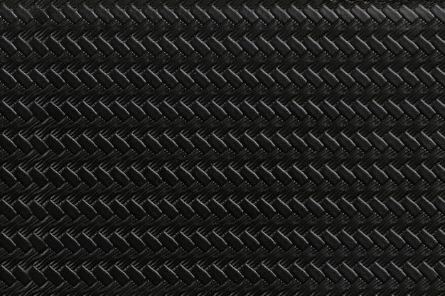 Fundo de textura de couro preto.