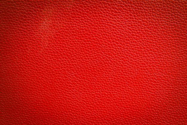 Fundo de textura de couro vermelho