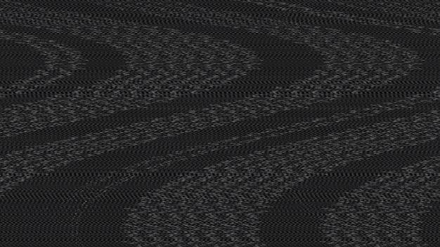 Fundo de textura de efeito de ruído digital preto glitch