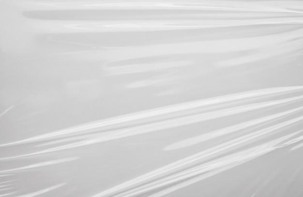 Fundo de textura de envoltório de filme plástico branco