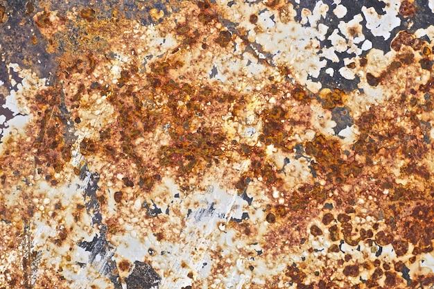 Fundo de textura de ferro oxidado antigo