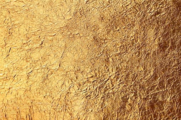 Fundo de textura de folha de ouro amarelo brilhante