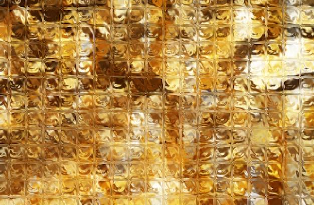 Fundo de textura de folha de ouro amassado