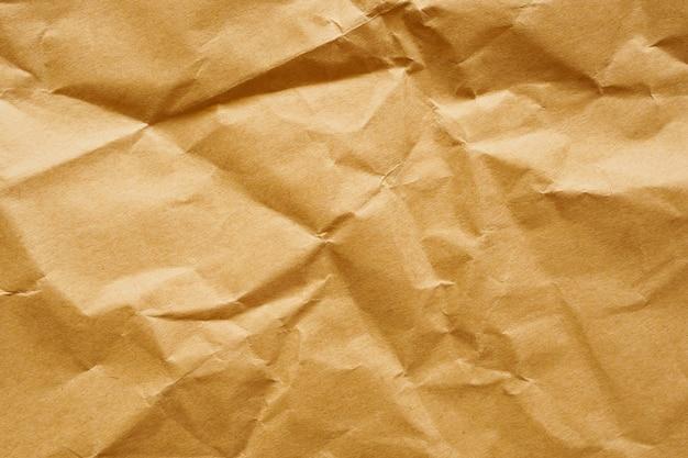 Fundo de textura de folha kraft reciclada de papel amarrotado marrom