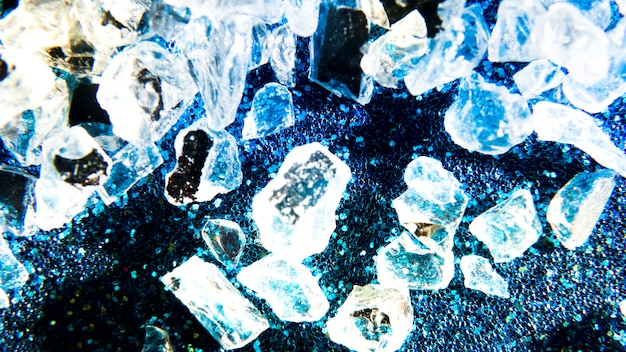Fundo de textura de glitter com cristais