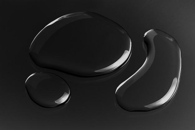 Fundo de textura de gotas de água, preto