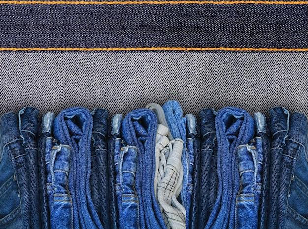 Fundo de textura de jeans denim azul