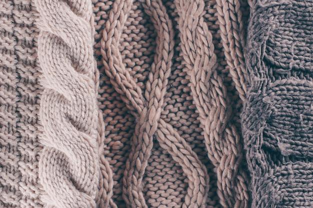 Fundo de textura de lã de tricô