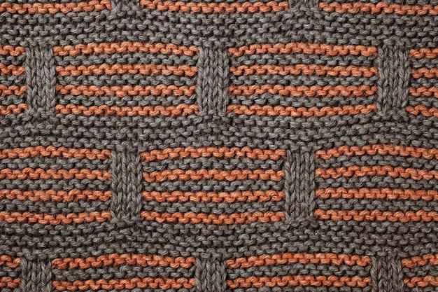 Fundo de textura de lã tricotada.