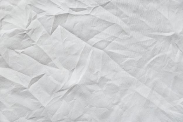 Fundo de textura de lona branca enrugada