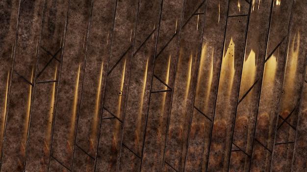 Fundo de textura de madeira com efeito metálico