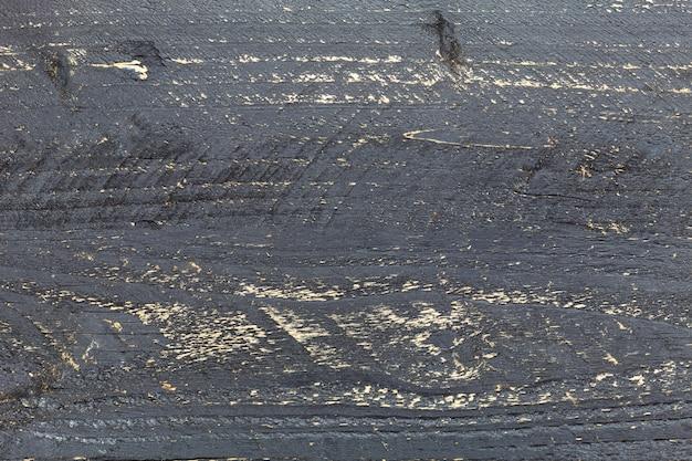 Fundo de textura de madeira escura, preto velho painéis de madeira prancha