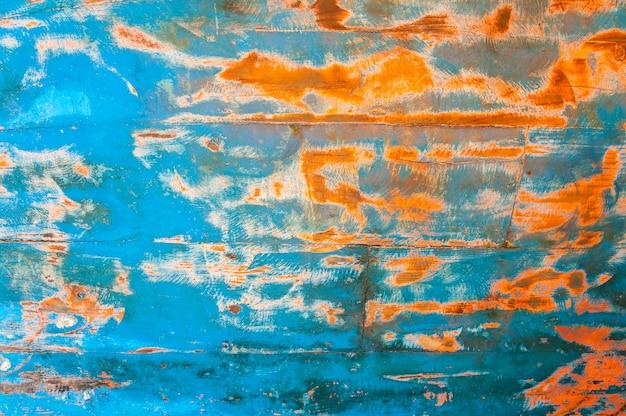 Fundo de textura de madeira grunge vermelho e azul