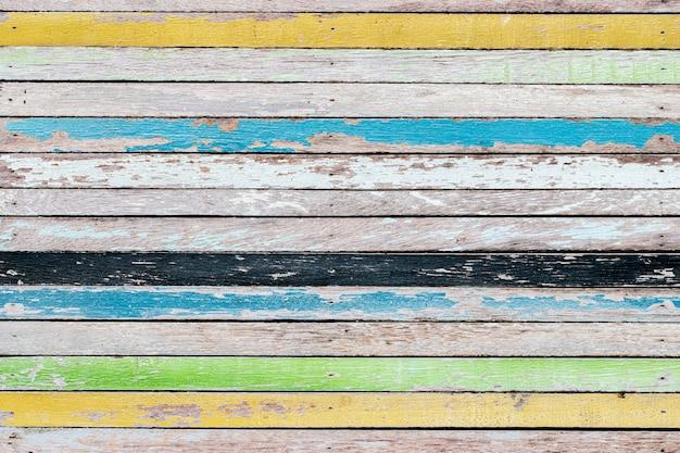 Fundo de textura de madeira velho abstrato colorido