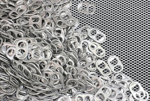 Fundo de textura de malha aberta de alumínio