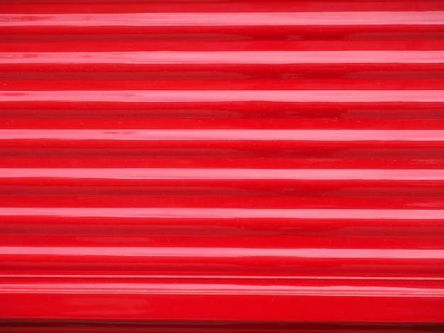 Fundo de textura de metal de aço ondulado vermelho