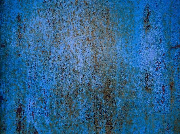 Fundo de textura de metal enferrujado azul.